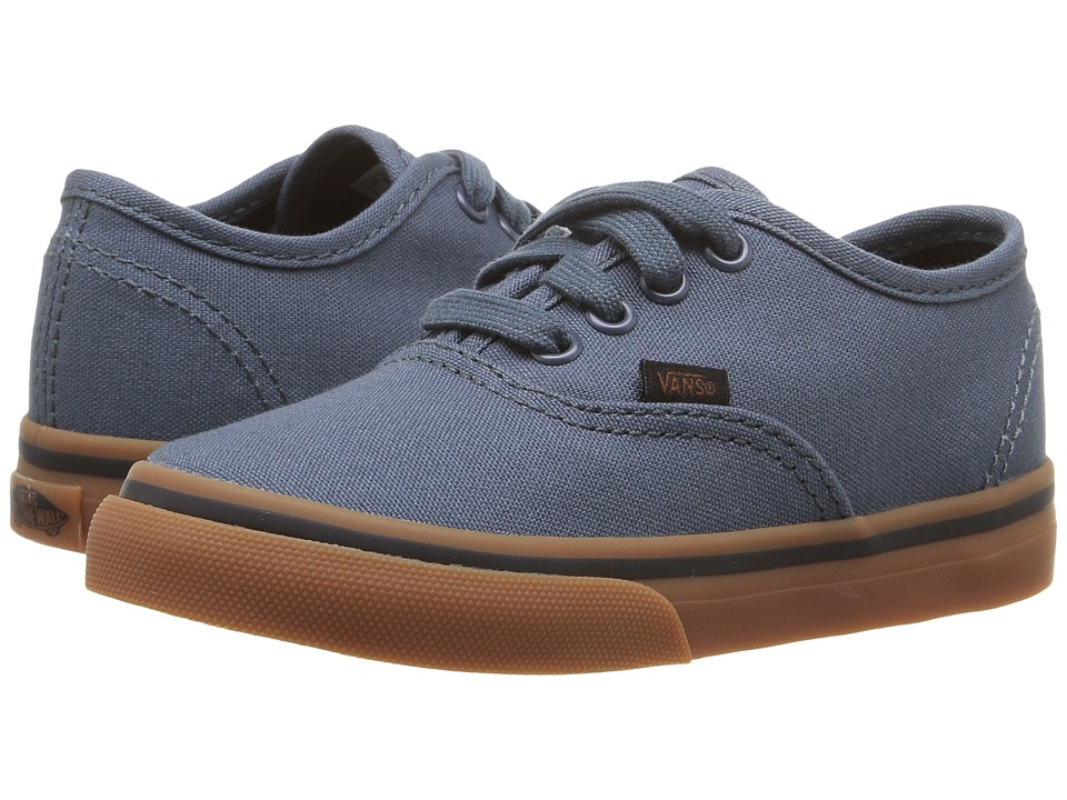 Vans Kids - Authentic (Toddler) ((Gum) Dark Slate/Black) Boys Shoes