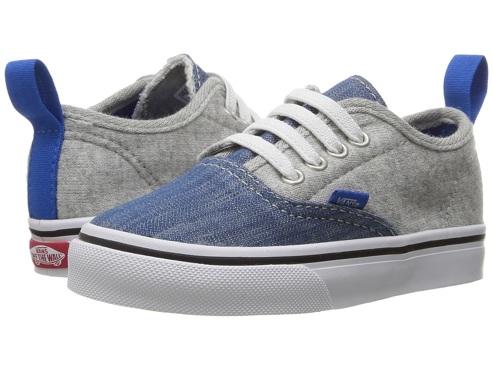 Vans Kids - Authentic V Lace (Toddler) ((Jersey & Denim) Imperial Blue/True White) Boys Shoes