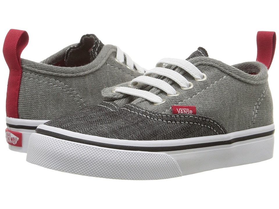 Vans Kids - Authentic V Lace (Toddler) ((Jersey & Denim) Racing Red/True White) Boys Shoes