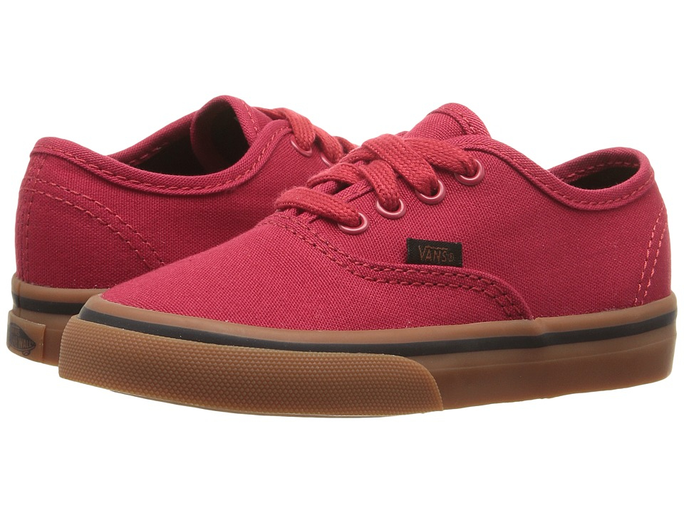 Vans Kids - Authentic (Toddler) ((Gum) Racing Red/Black) Boys Shoes