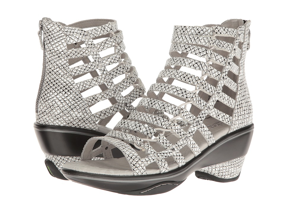 Jambu - Brookline (Black Snake) Women's Wedge Shoes