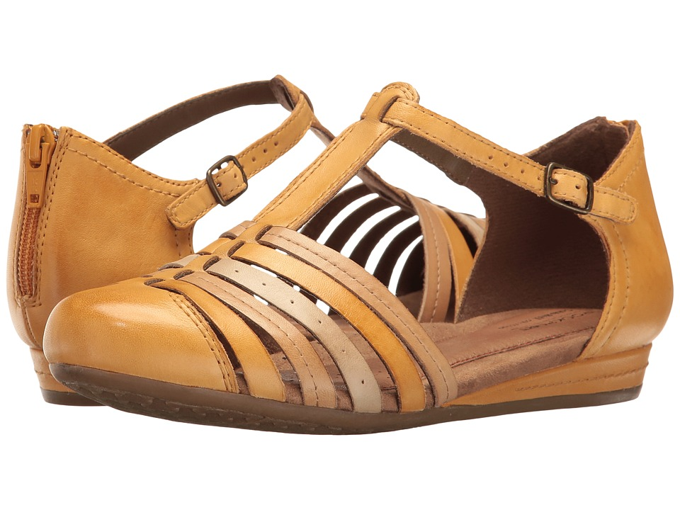 Rockport Cobb Hill Collection Cobb Hill Galway Strappy T (Yellow Multi Leather) Women