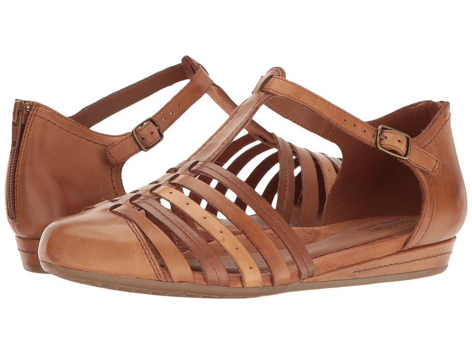 Rockport Cobb Hill Collection - Cobb Hill Galway Strappy T (Tan Multi Leather) Women's Shoes