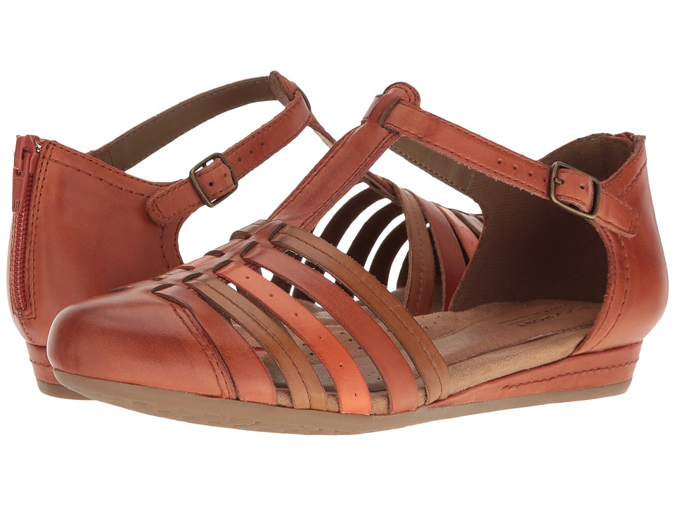 Rockport Cobb Hill Collection - Cobb Hill Galway Strappy T (Spice Multi Leather) Women's Shoes