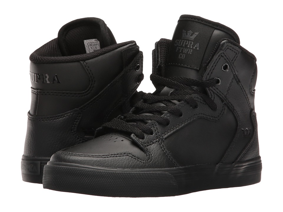 Supra Kids - Vaider (Little Kid/Big Kid) (Black/Black 1) Boys Shoes