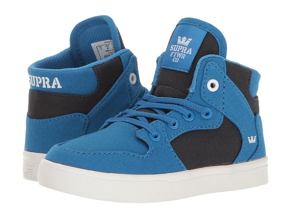 Supra Kids - Vaider (Toddler) (Blue/Black/White) Boy's Shoes