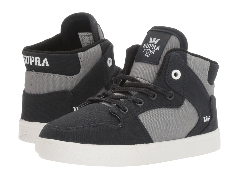 Supra Kids - Vaider (Toddler) (Black/Dark Grey/White) Boy's Shoes
