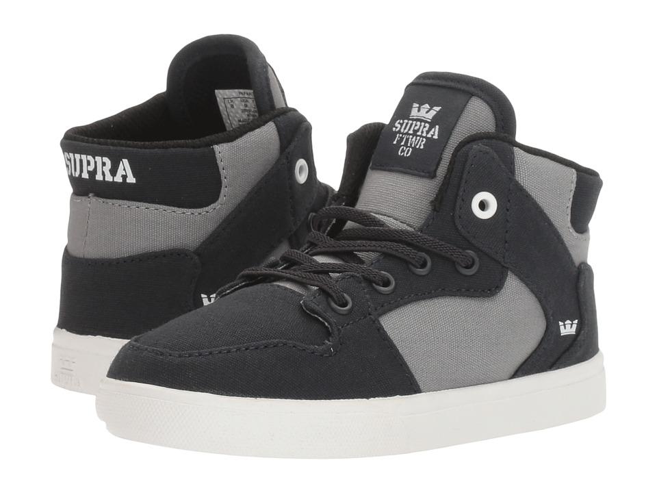 Supra Kids - Vaider (Toddler) (Black/Dark Grey/White) Boy's Shoes