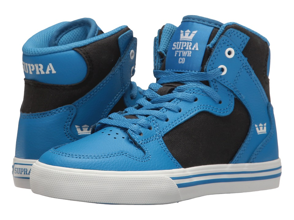 Supra Kids - Vaider (Little Kid/Big Kid) (Blue/Black/White) Boys Shoes