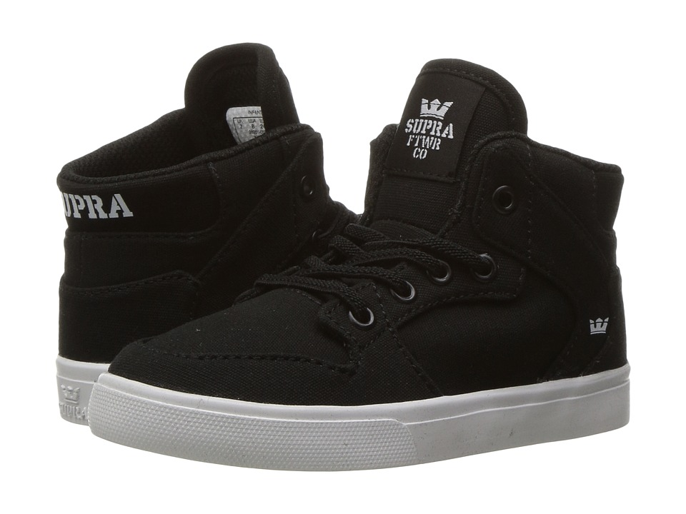 Supra Kids - Vaider (Toddler) (Black/White 1) Boy's Shoes