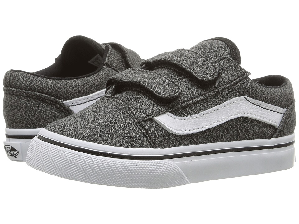 Vans Kids - Old Skool V (Toddler) ((Suiting) Black/True White) Boys Shoes