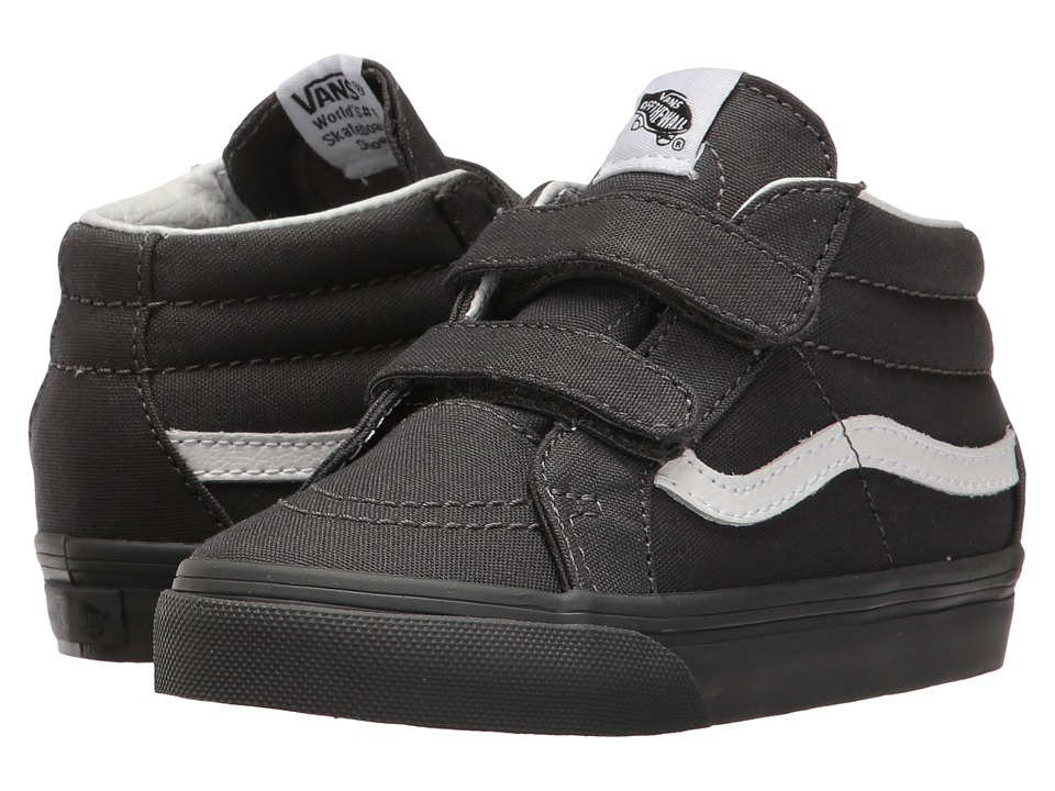 Vans Kids - Sk8-Mid Reissue V (Toddler) ((Mono) Asphalt) Boys Shoes