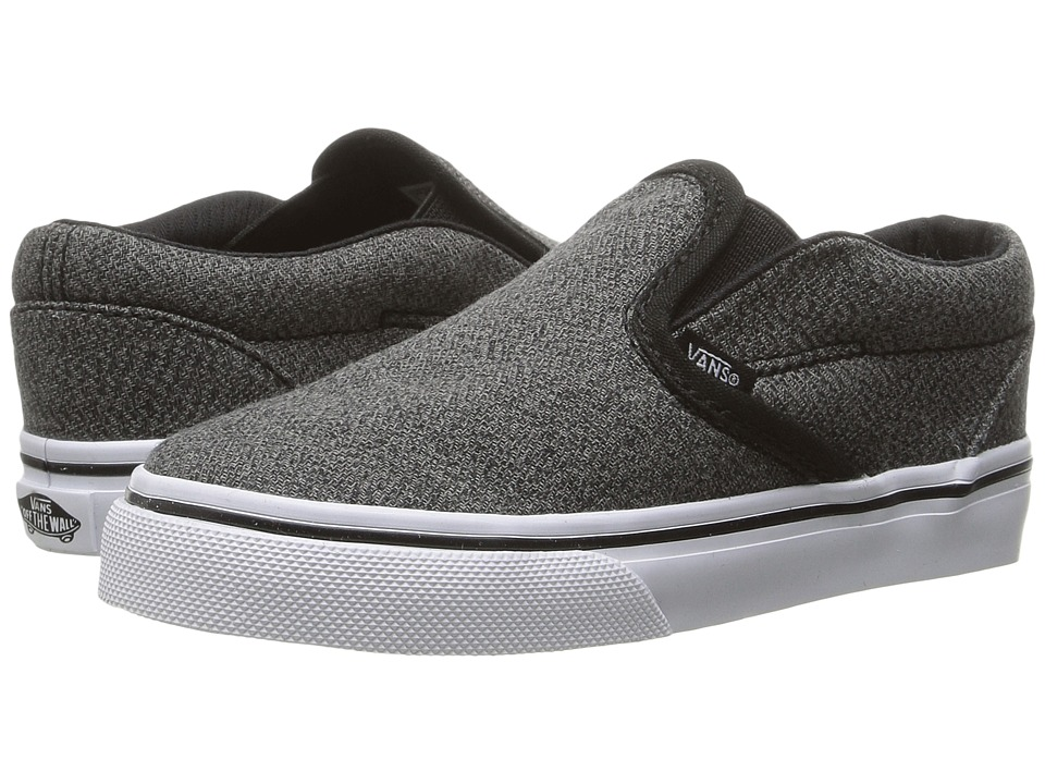 Vans Kids - Classic Slip-On (Toddler) ((Suiting) Black/True White) Boys Shoes