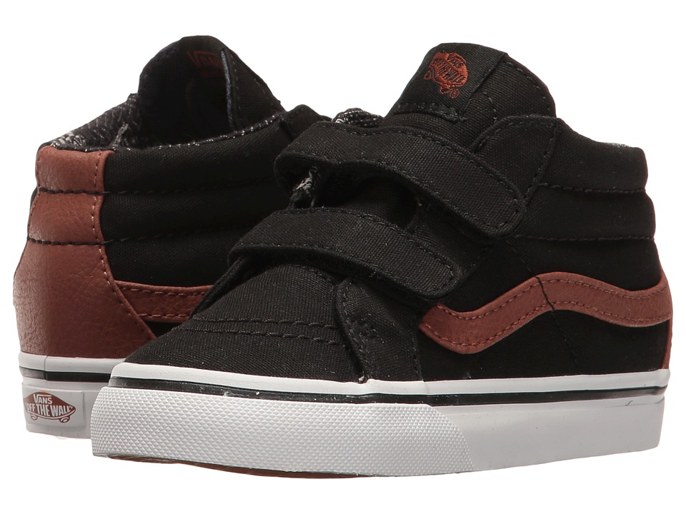 Vans Kids - Sk8-Mid Reissue V (Toddler) ((C&L) Black/Material Mix) Boys Shoes