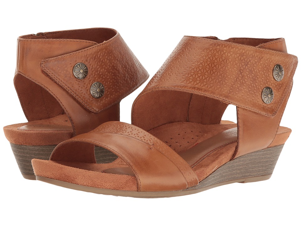 Rockport Cobb Hill Collection Cobb Hill Hollywood Two-Piece Cuff (Tan  Leather) Women's Sandals