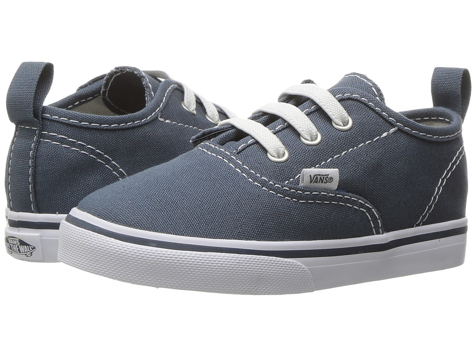 Vans Kids - Authentic V Lace (Toddler) ((Canvas) Dark Slate/True White) Boys Shoes