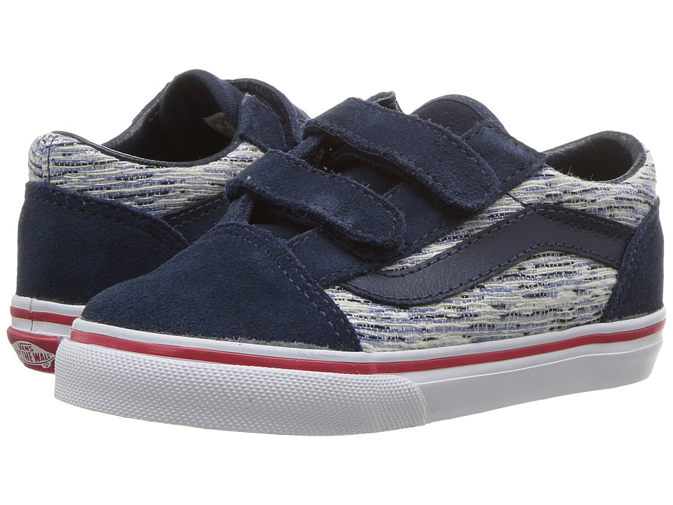 Vans Kids - Old Skool V (Toddler) ((Speckle) Dress Blues/True White) Boys Shoes