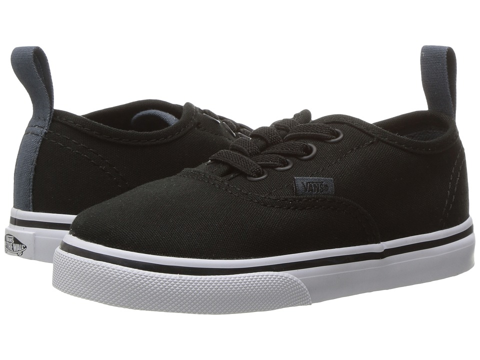 Vans Kids - Authentic Elastic Lace (Toddler) ((Canvas) Black/Dark Slate) Boys Shoes