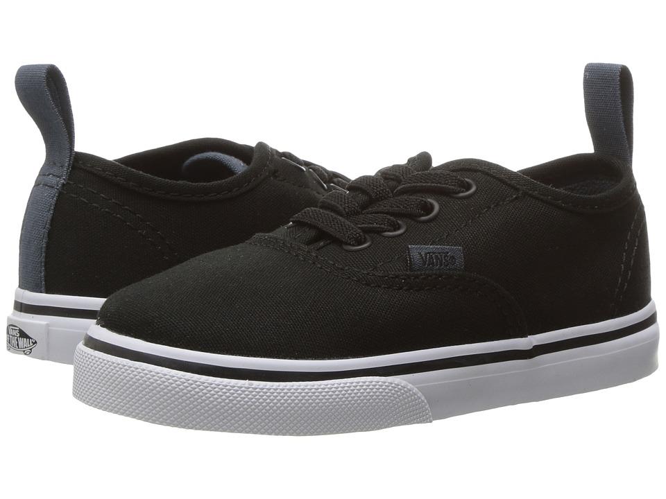 Vans Kids - Authentic Elastic Lace (Toddler) ((Canvas) Black/Dark Slate) Boys Shoes