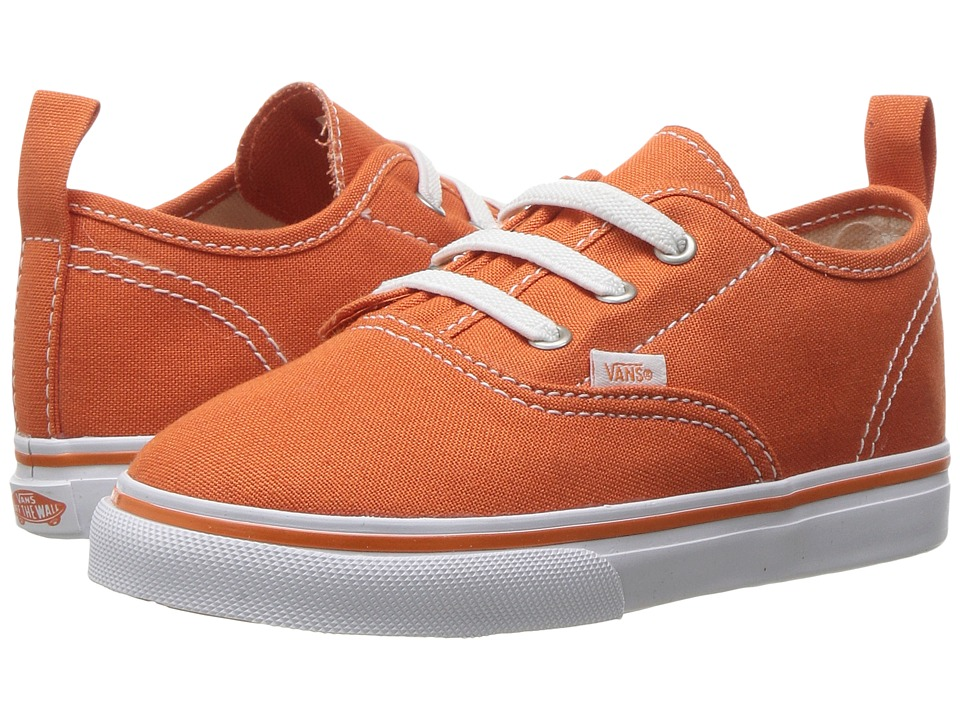 Vans Kids - Authentic V Lace (Toddler) ((Canvas) Harvest Pumpkin/True White) Boys Shoes