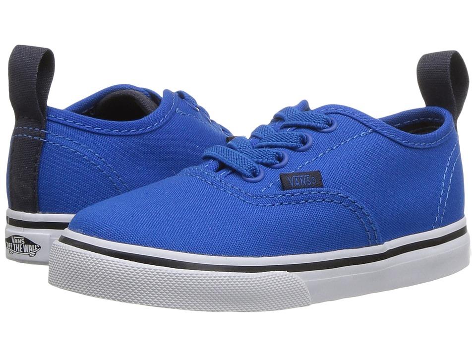 Vans Kids - Authentic Elastic Lace (Toddler) ((Canvas) Imperial Blue/Parisian Night) Boys Shoes