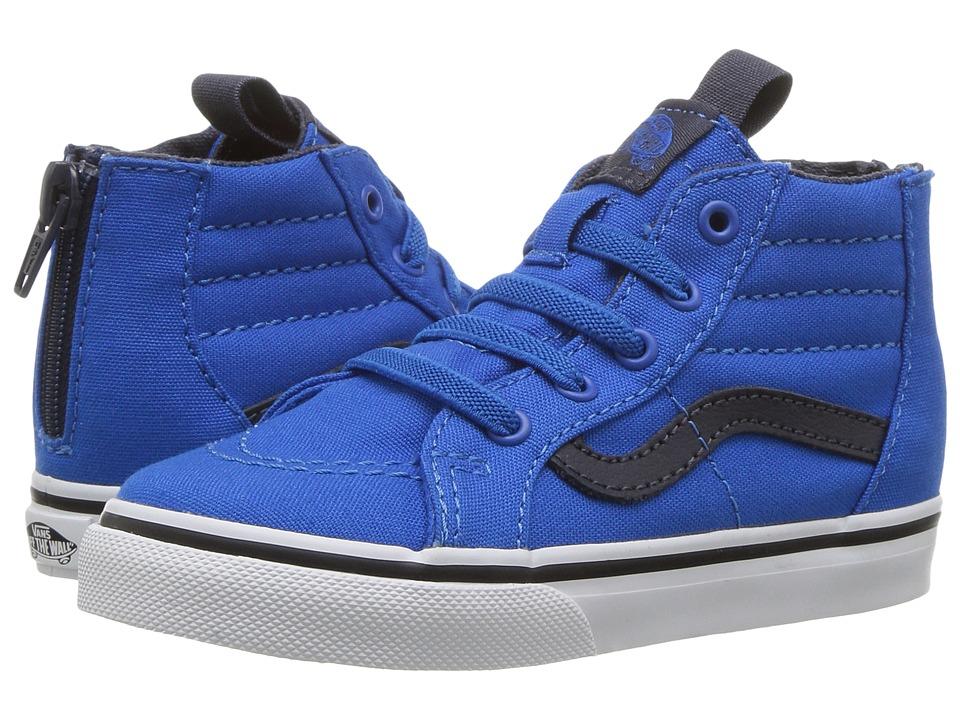 Vans Kids Sk8-Hi Zip (Toddler) ((Canvas) Imperial Blue/Parisian Night) Boys Shoes
