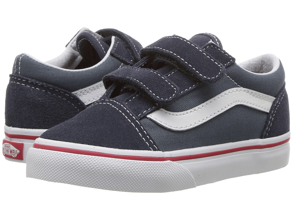 Vans Kids - Old Skool V (Toddler) ((Two-Tone) Parisian Night/Dark Slate) Boys Shoes