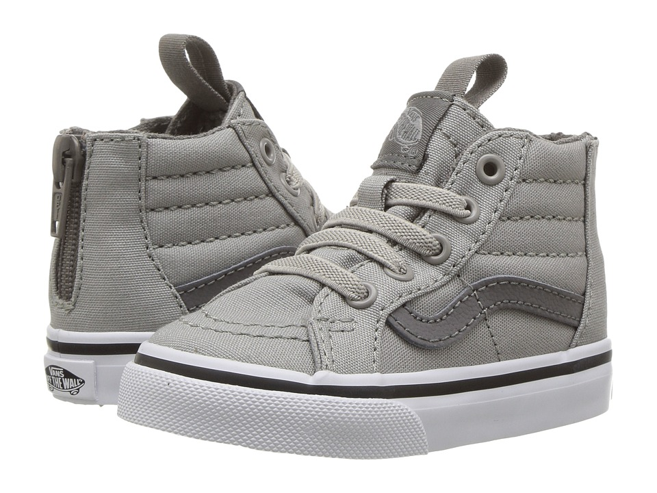 Vans Kids - Sk8-Hi Zip (Toddler) ((Canvas) Drizzle/Charcoal Gray) Boys Shoes