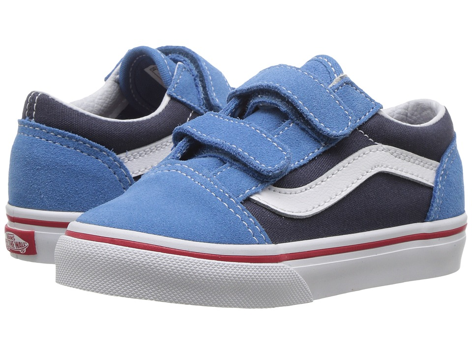 Vans Kids - Old Skool V (Toddler) ((Two-Tone) Cendre Blue/Parisian Night) Boys Shoes