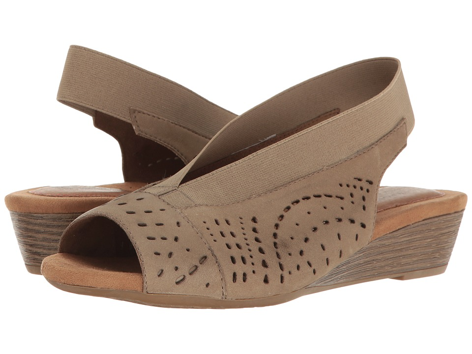 Rockport Cobb Hill Collection Cobb Hill Judson Peep Sling (Light Khaki Nubuck) Women