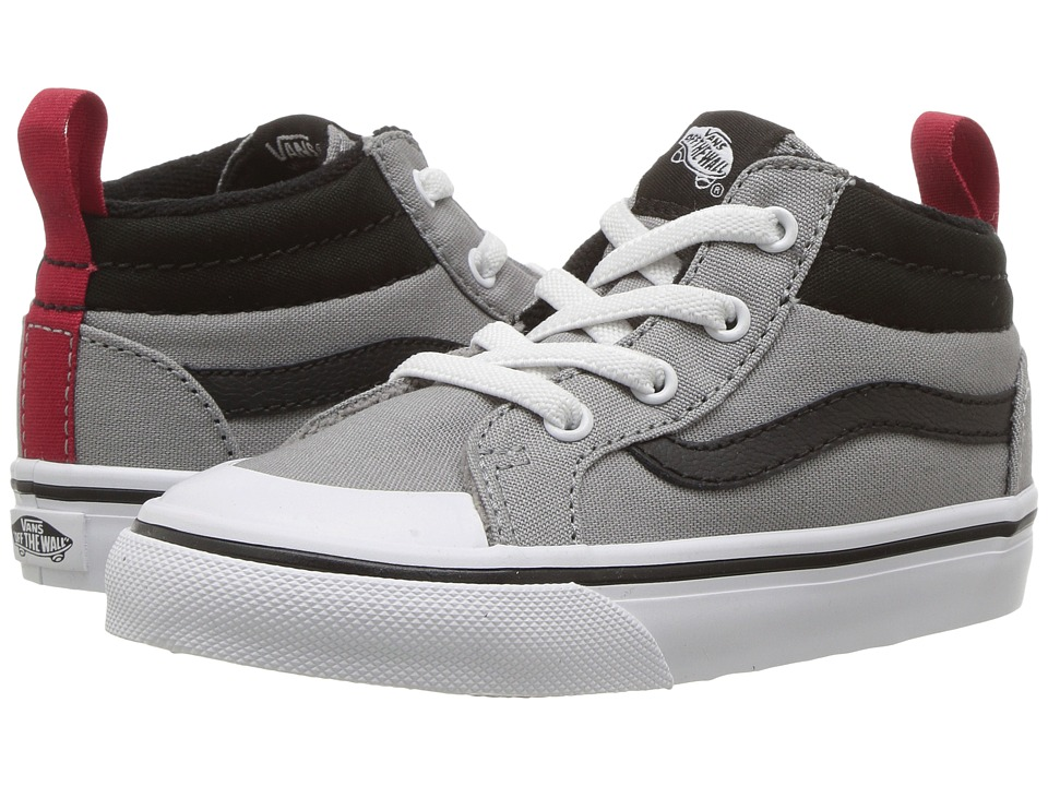 Vans Kids - Racer Mid (Toddler) ((Canvas) Wild Dove/Black) Boys Shoes