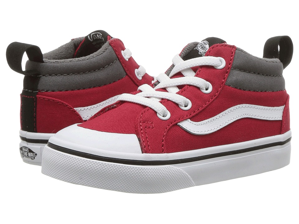 Vans Kids - Racer Mid (Toddler) ((Canvas) Racing Red/Pewter) Boys Shoes