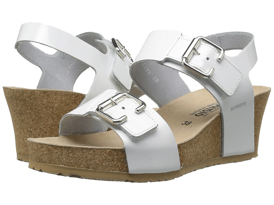 Mephisto - Lissandra (White Patent) Women's Wedge Shoes