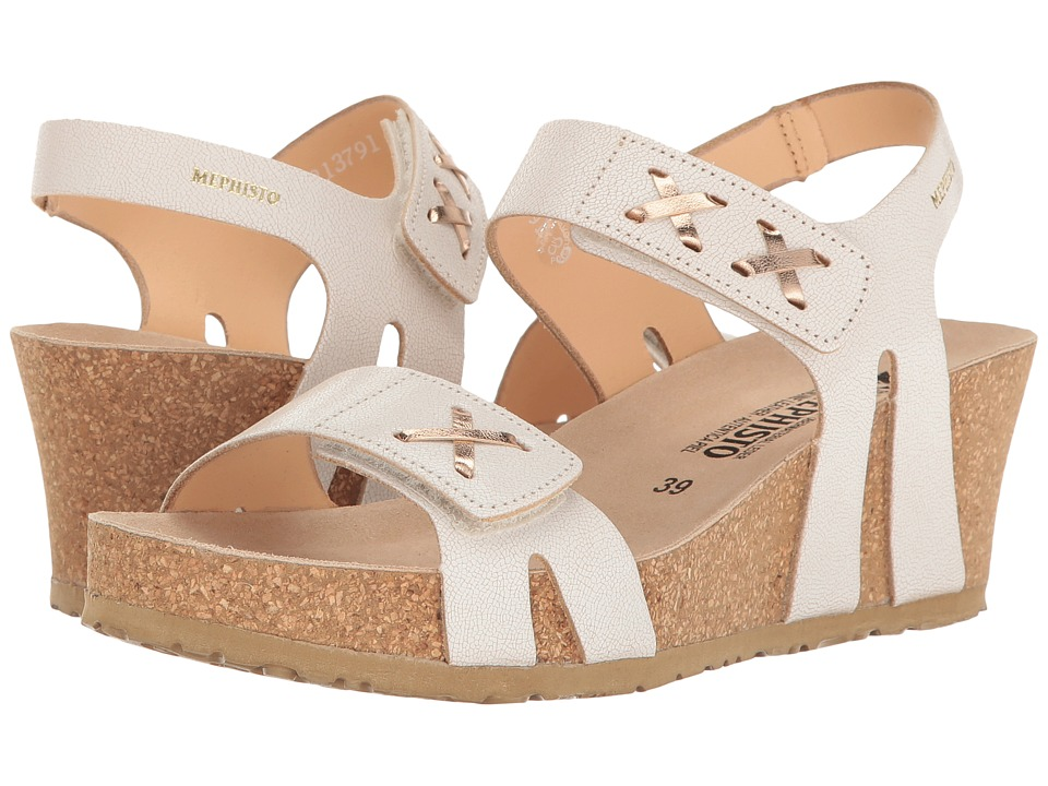 Mephisto - Loreta (White Venise/Nude Magic) Women's Wedge Shoes