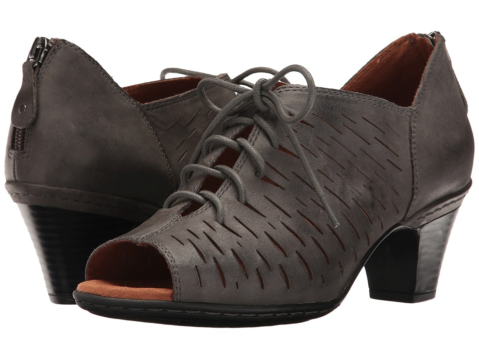 Rockport Cobb Hill Collection Cobb Hill Spencer Perforated Lace-Up (Dark Grey Nubuck) Women