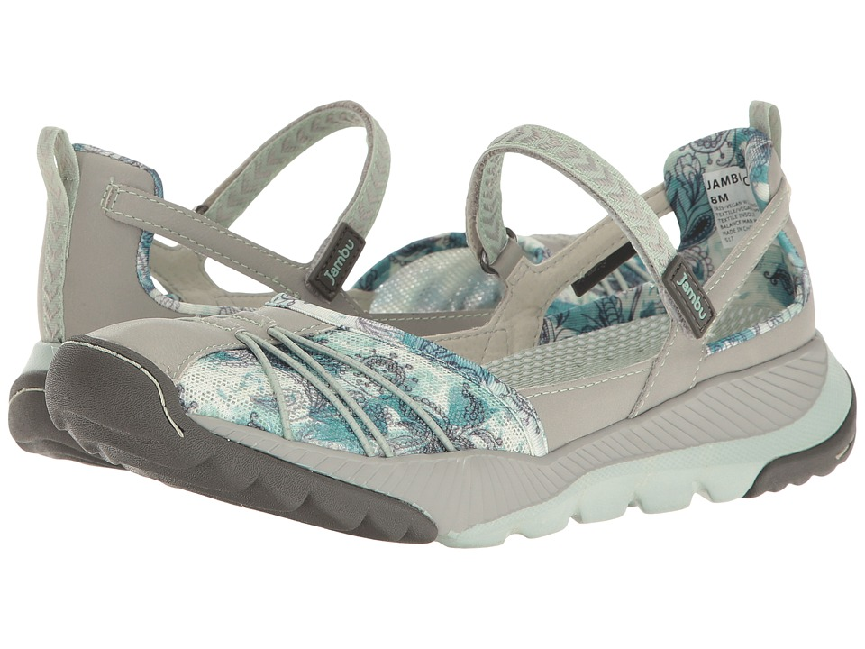 Jambu - Iris-Vegan Water Ready (Light Grey/Green) Women's Shoes