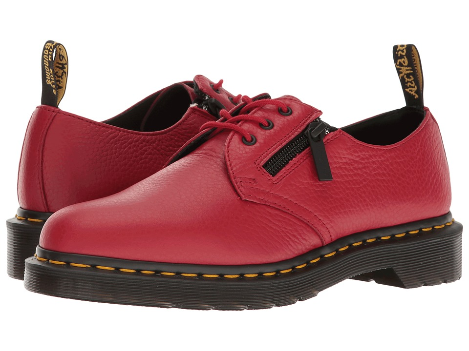 Dr. Martens 1461 w/ Zip (Dark Red Aunt Sally) Women