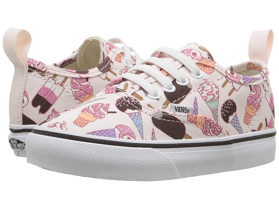Vans Kids - Authentic V Lace (Toddler) ((Glitter Ice Cream) Delicacy/True White) Girls Shoes