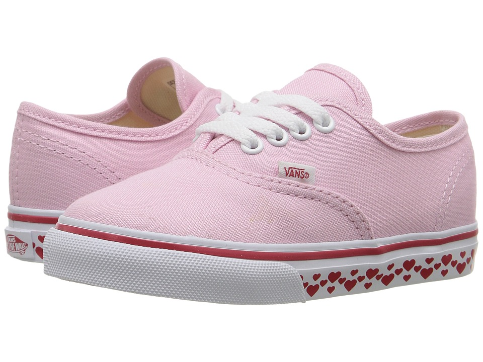 Vans Kids - Authentic (Toddler) ((Hearts Tape) Pink Lady/Red) Girls Shoes