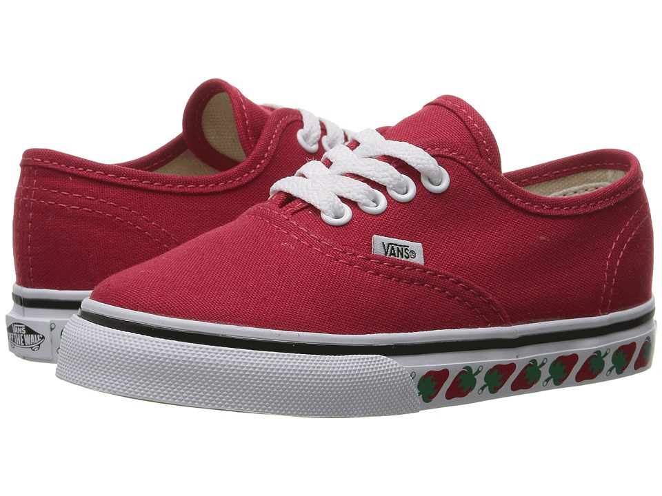 Vans Kids - Authentic (Toddler) ((Strawberry Tape) Red/Black) Girls Shoes