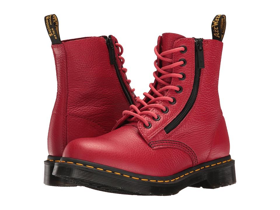 Dr. Martens - Pascal w/ Zip (Dark Red Aunt Sally) Women's Boots