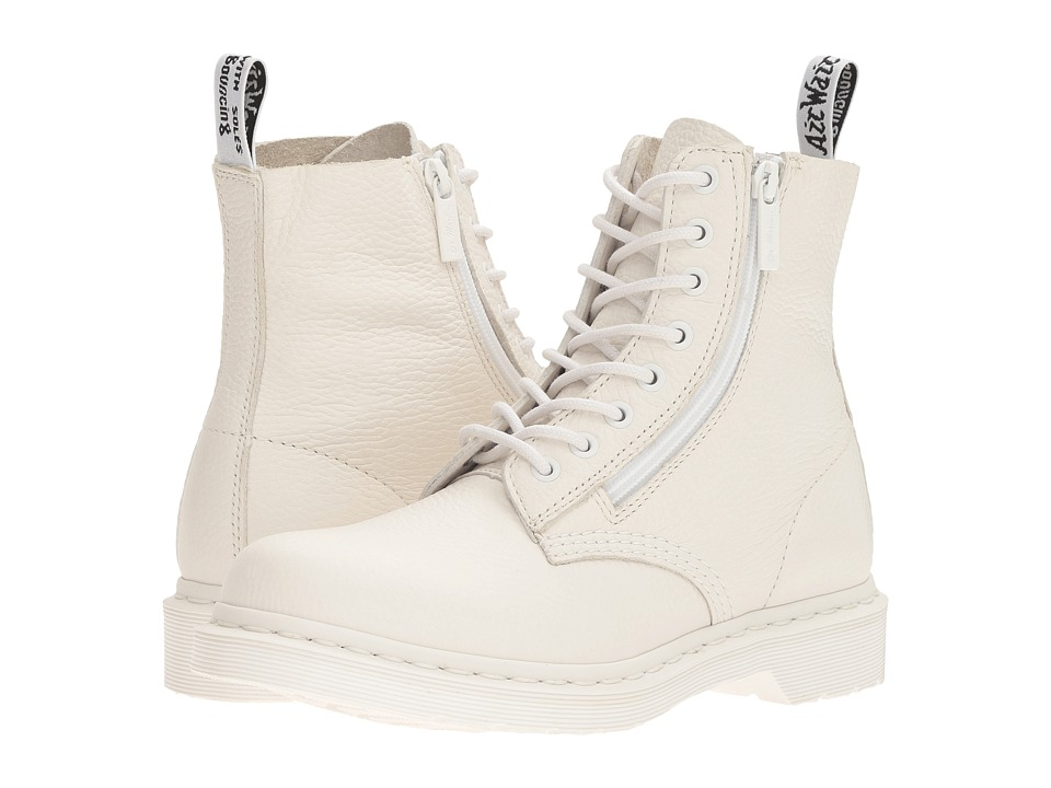 Dr. Martens Pascal w/ Zip (White Aunt Sally) Women