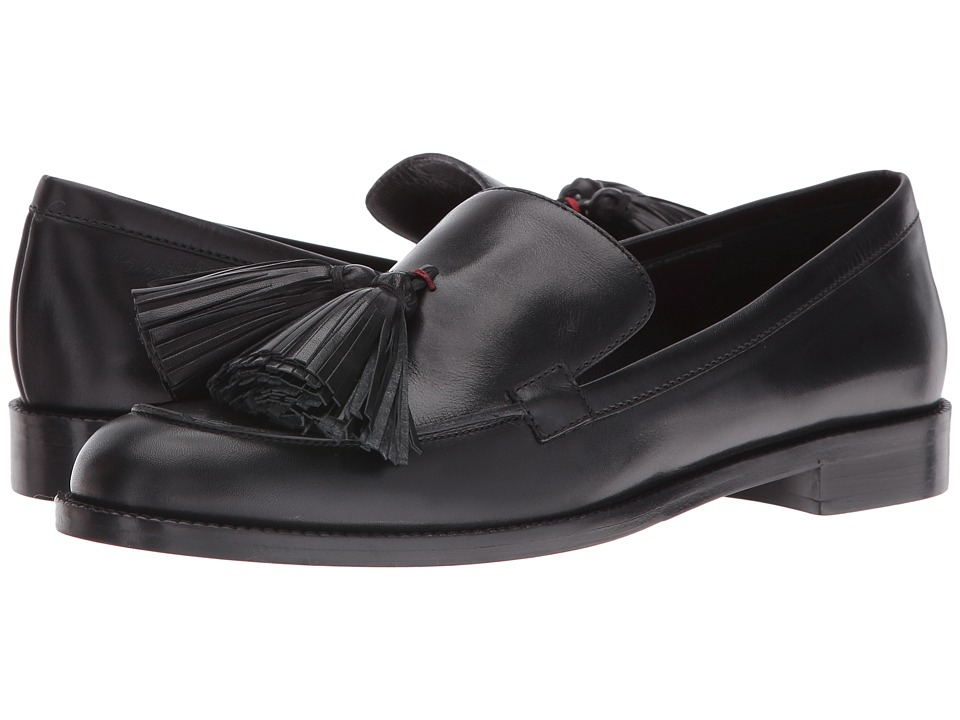 Frances Valentine - Greta (Black Leather) Women's Shoes