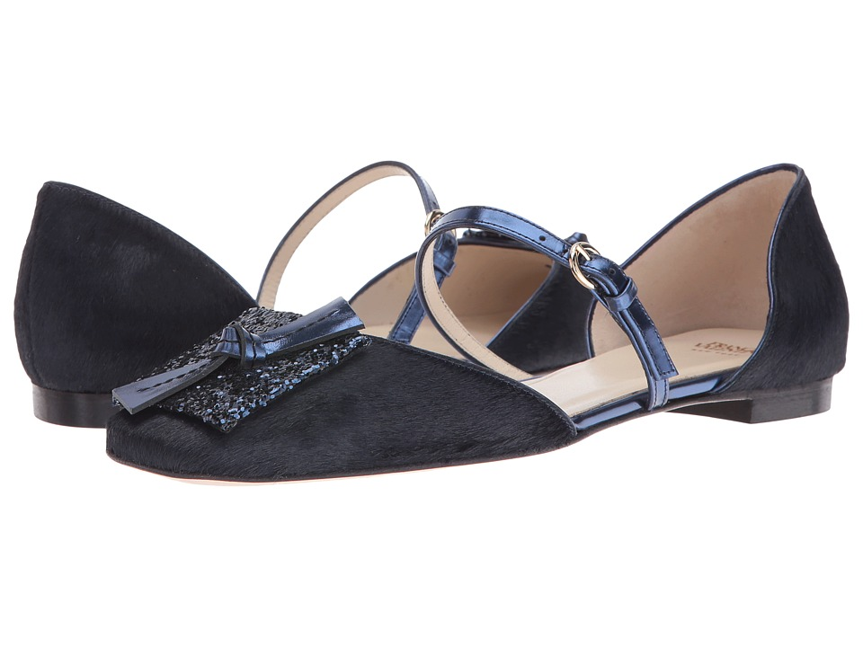 Frances Valentine - Eliza (Blue Haircalf/Blue Glitter) Women's Shoes