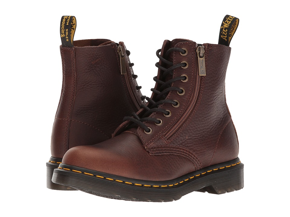 Dr. Martens Pascal w/ Zip (Dark Brown Grizzly) Women