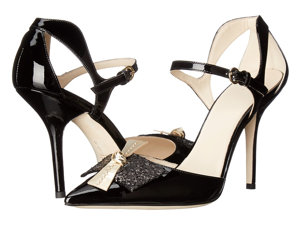 Frances Valentine - Julia (Black/Gold Patent Leather) Women's Shoes