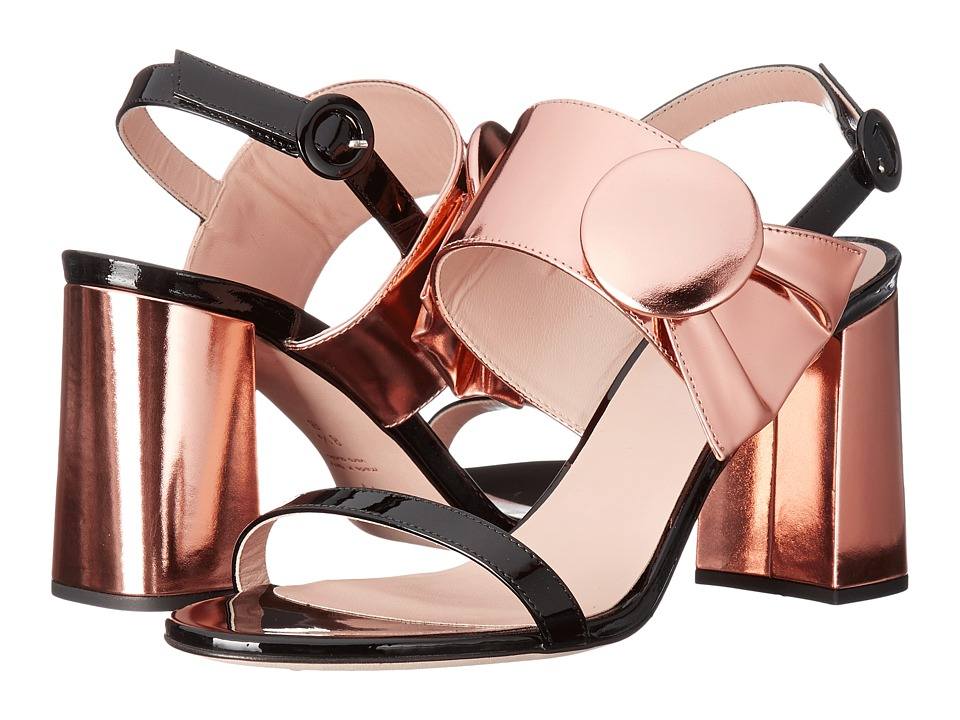 Frances Valentine Poppy (Rose Gold Patent Metallic Leather) Women
