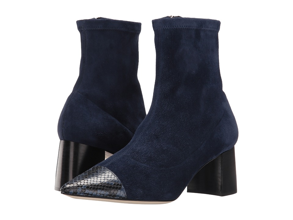 Frances Valentine - Belle (Blue Suede/Blue Print Leather) Women's Shoes