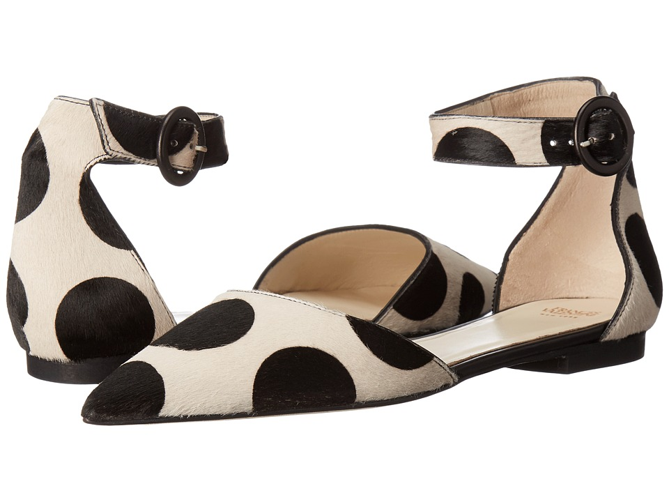 Frances Valentine - Lydia (Dot White/Black Haircalf) Women's Shoes