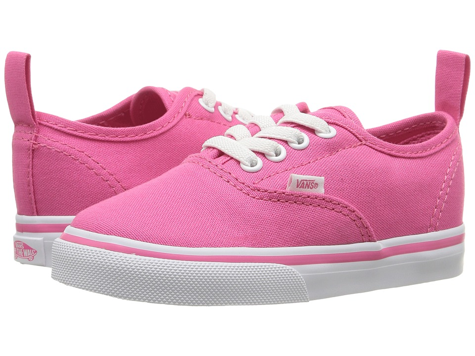 Vans Kids - Authentic Elastic Lace (Toddler) (Hot Pink/True White) Girls Shoes